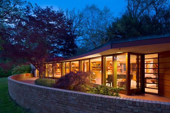 The Kenneth & Phyllis Laurent House, a one-of-a-kind accessible home designed by Frank Lloyd Wright, will open to the public in June. (Laurent House Foundation)