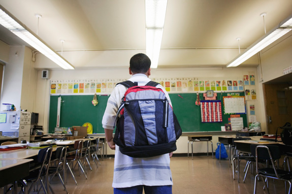 A new report suggests that local decisions may have a greater impact on the use of restraint and seclusion in schools than changes at the state level. (Thinkstock)