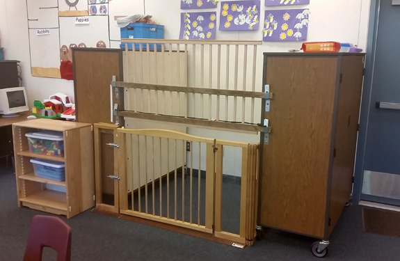 A 7-year-old with intellectual disability was allegedly locked in a makeshift cage at school by her first-grade teacher. (Hinton Alfert & Kahn LLP)