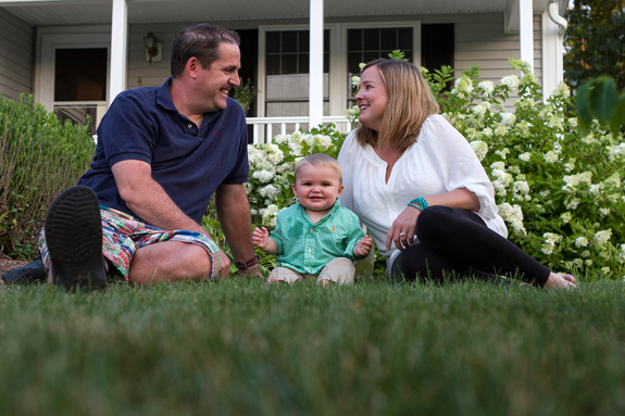 Lincoln and Stacie Chapman, with their healthy son, Lincoln Samuel Chapman, born last year. A new prenatal screening test indicated the boy would likely have an often fatal genetic condition. (Lauren Owens/NECIR)